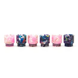 Wholesale Colorful Resin Drip Tip Floral for TFV12 Prince Wide Bore Vape Drip Tips Mouthpiece E cig Accessories DHL Free