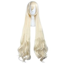 42672fea79222 Sexy Japanese Cosplay Costumes UK - Women's Fiber Wavy Party Costume  Cosplay Wigs Long Blonde