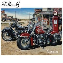 FULLCANG diy Алмаз вышивка мотоцикл мозаика 5D Алмаз живопись вышивки крестом полный квадрат дрель рукоделие D889 на Распродаже