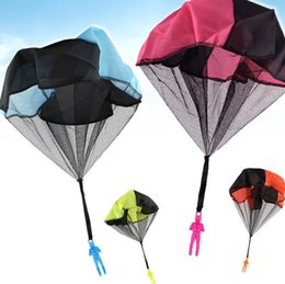 Parachute Toy Wholesale NZ - NEW Hand Throwing Kids Mini Play Parachute Toy Soldier Outdoor Sports Child Educational Toys Outdoor Toys Candy Color DHL free shi
