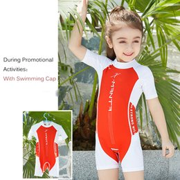 Jump Suits NZ - Children Swimwear for Girls Boys Swimming Suit One piece UV Sun Protection Diving Surfing Jump Sets Bathing Suits Kids Swimwear