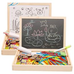 Magnetic Blocks Educational Australia - Baby Toys Multipurpose Study Box Wooden Toys Magnetic Digital Learning Montessori Educational Math Toy Blocks Child Gift