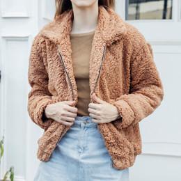 bcae747e876 2018 Winter Warm Women Jacket Clothes Coat Outwear Sweatshirts Fluffy Coat  Fleece Fur Long Sleeve Jacket Zipper Tracksuits