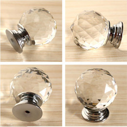 kitchen cabinet door hardware NZ - Modern Fashion K9 Glass Knob Crystal cabineDiamond Furniture Handles Hardware Drawer Wardrobe Kitchen Cabinets Cupboard Door Pull Knobs