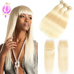 Blonde Hair Weaved Australia - Doheroine Brazilian Virgin Straight Hair 3 Bundles 613 Blonde 100% Unprocesse Human Hair Weave Bundles Hair Extensions very beautiful
