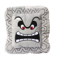 "Sale Toys Super Mario UK - Hot Sale New 9'' 23cm   11"" 30cm Cushion Pillow Thwomp Dossun Super Mario Plush Doll For Children Gift"