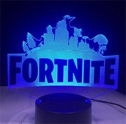 Wholesale Fortnite Night Light lamp new fashion Fortnite Desk Lamp Anti Static Color Changeable Fortnite D Table Lamps adjust Room Atmosphere