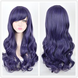 Discount love live cosplay nozomi - Love Live! Nozomi Tojo Cosplay Wig Long Two Braids Dark Purple Hair Wigs