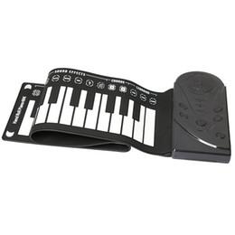 Toptan satış 49 anahtar hoparlör el rulo elektronik piyano portatif katlanır elektronik yumuşak klavye piyano-MÜZİK kadar rulo