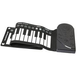 49 touches haut-parleur main rouleau piano électronique portable pliable clavier électronique souple retrousser le piano-musique en Solde