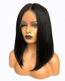 Chinese  Diosa short lace front wigs human hair Middle Part Bob Cut Wigs Shoulder length Pre-plucked Natural Hairline Full Lace Wigs manufacturers