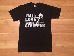 Toptan satış Ben bir AŞıKÇıĞı IÇIN AŞıRı T GÖMLEK MENS KÜÇÜK SIYAH GÜMÜŞ DİREK DANCER STRIP Erkek 2018 moda Marka T Gömlek O-Boyun