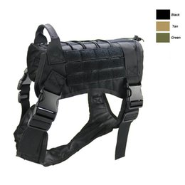 Molle vest gear online shopping - Outdoor Camouflage Plate Carrier Dog Clothes Load Jacket Gear Vest Tactical Dog Training Molle Vest NO06
