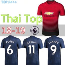 e67a49e15 2018 2019 home away LUKAKU ALEXIS SANCHEZ MAN Soccer Jersey 18 19 POGBA  MARTIAL LINGARD UTD MATA MATIC United Ander Herrera Football Shirt