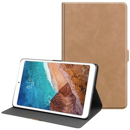 $enCountryForm.capitalKeyWord NZ - Folding Flip Smart Cover Leather Case with Front Holder for Xiaomi Mi Pad 4 Plus Mipad 4 10.1 Tablet+Stylus