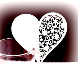 Heart sHaped wedding place cards online shopping - Love Heart Shaped Greeting Cards Hollowed Out Design Paper Invitations Floral Wine Glass Place Cards For Wedding Party dd BB