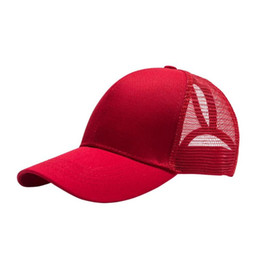 a438050bf99 Summer Ponytail Baseball Cap for Women Girls Adjustable Pure Color Snapback  Mesh Hats Casual Sun Messy Bun Hat for women and men