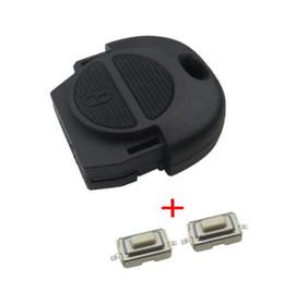 nissan car remote case shell 2019 - Good quality Remote Fob Key Shell for Nissan Micra Almera Primera X-Trail 2 Buttons Car Key Case Cover No Blade