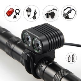 Hiking accessories online shopping - 2x XM L2 LED Cycling Front Bicycle Bike light Headlight Headlamp Outdoor waterproof IPX Bike Light Accessories set night riding hiking