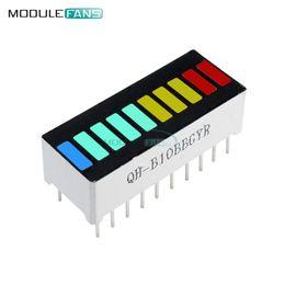 5 PCS Módulo de Display LED 10 Segmento Bargraph Módulo de Exibição de Luz Gráfico de Barras Ultra Brilhante Vermelho Amarelo Verde Azul Cor Multi-cor em Promoção