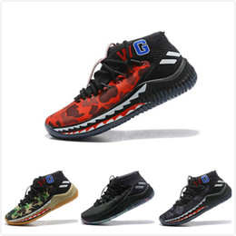 Dame 4 Bap Shark Camo CNY Men Basketball shoes Sneakers Damian Lillard 4s  WGM Sport Green Grey Red camouflage Mens Trainer 7-12 038faf121