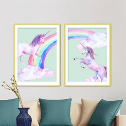 Silicone paint online shopping - European Style Unicorn Diamond Painting Chimes Full Of Cross Stitch Kits Over Drilling Creative D DIY Mosaic Bedroom Decoration om3 Y