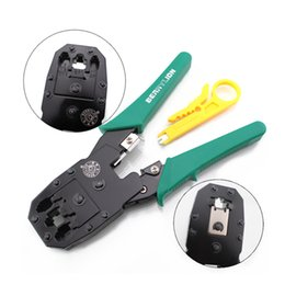 Discount rj45 rj11 wiring - 3-in-1 Network Crimping Pliers RJ45 RJ11 RJ12 Wire Cable Stripper Multi Tool Portable Crimper Network Hand Tools