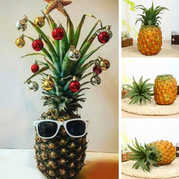 Funny Christmas Pineapple Tree Simulated Pineapple Fruit Xmas Decorative  Props Home Decorations Pineapples Christmas Trees Decor
