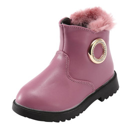 kids fashion winter shoes UK - KIDS Snow Boots Shoes For Baby girls boys snow boots shoes fashion warm plush inside baby infant boots toddler shoes