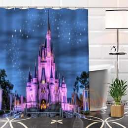 Best Bath showers online shopping - Best Nice Custom Magical Castle Shower Curtain Bath Curtain Waterproof Fabric Bathroom MORE SIZE LQ