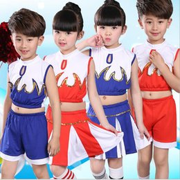 cd5e84a3cc1 Children latin dancewear suit cheerleading costumes boys and girls group  performance service lala opera gymnastics clothes