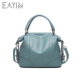 94a24886575f6 2019 Fashion EAYIN Genuine Leather Totes Female Shoulder Crossbody Bags For Women  Leather Handbag Ladies Messenger Bag Large Top-handle Bags