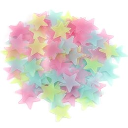 $enCountryForm.capitalKeyWord UK - 100pcs DIY Colorful Luminous Star Patch Wall Stickers Fluorescent Glow In The Dark Baby Kids Bedroom Decal Stars Home Decor LH8s