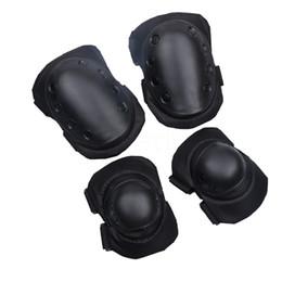 Tactical Protective Gear Australia - 4pcs set CS Tactical Armor Knee Pads Adjustable Tactical Skate Elbow Knee Pads Protective Set Guard Gear Pad