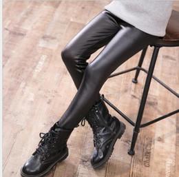 ef303fe74af8b Black Tights Designs Canada - Fashion Pu Leather fleece legging cute baby  warm tights fashion design