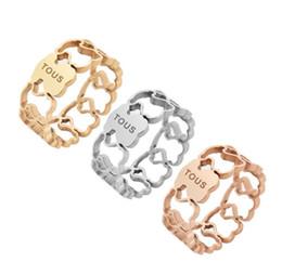 2018 New Fashion Anillo In Acciaio Inox Spagna anelli di banda wied Dimensione 6.7.8.9 Carino hollow Anelli di buona qualità non gioielli dissolvenza KKA1928 in Offerta