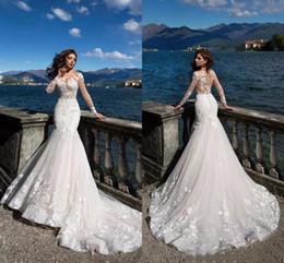 $enCountryForm.capitalKeyWord NZ - New 2018 Long Sleeve Tulle Appliques Mermaid Wedding Dresses Illusion Court Train Beach Wedding Dresses Bohemain fishtail Bridal Gowns