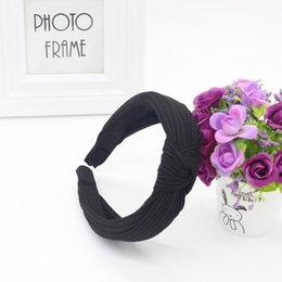 $enCountryForm.capitalKeyWord Australia - Women Yoga Headband Twist Hairband Bow Knot Cross Tie Headwrap Hair Band Hoop Hot Sale Dropshipping