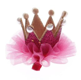 1x Cute Fashion Hot Sweet Girls Rhinestone Crown Princess Hair Clip Lace Pearl Shiny Star Hair Band Headband Hair Accessories Soft And Antislippery Mother & Kids Accessories