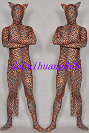 Xl Full Body Suits Australia - New Multicolour Lycra Spandex Tiger Suit Catsuit Costumes Unisex Full Tiger Body Suit Costumes Outfit Halloween Party Cosplay Costumes DH249