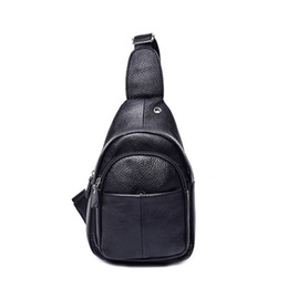 coffee packaging bag 2019 - Famous design Genuine leather cowboy chest unisex shoulder diagonal package chest foreskin Zipper opening cross body bag