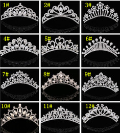 $enCountryForm.capitalKeyWord NZ - Princess Girls Hair Crown Wedding Bridal Crystal Rhinestone Pearl Beaded Hair Accessories Headband Band Crown Tiara Headpiece Jewelry Set
