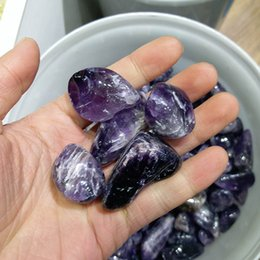 Wholesale 200g Natural Amethyst tumbled stones Purple Violet Amethystine small polished raw gemstone Decoration gravel rock gifts for healing