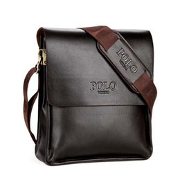 Wholesale Brand Man Bag Leather Brown Briefcase Men Business Handbag Messenger Bags Male Vintage Men s Shoulder Bag Large Capacity
