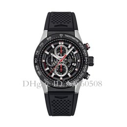 Wholesale Top Quality Men s Sports Watches MM Rubber Strap Luxury Watch VK Quartz Chronograph All Pointers Work TG Watches