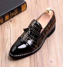 new pointy shoes men Australia - 2018 New style Men Formal Wedding Shoes Luxury Men Business Dress Shoes Mens Pointy Loafers Leather Slip on Flats Handmade J112