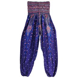 $enCountryForm.capitalKeyWord UK - Printed Wide Leg Yoga Pants Women High Waist Yoga Leggings Dance Harem Pants Women Plus Size Leggins Men Ethnic Loose Pantalones