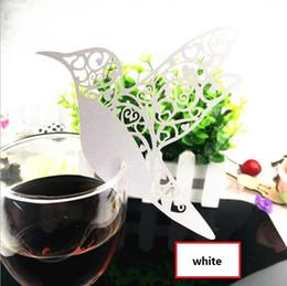 Wholesale wedding decorations Laser Cut Paper Wine Glass Place Card Creative Wedding Party Decoration MOQ BP081