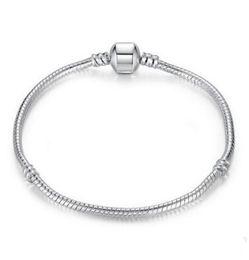 $enCountryForm.capitalKeyWord UK - Mix size Retro 925 Silver Bracelet with LOGO 17CM-21CM Snake Chains DIY Jewelry Accessories fit European Style Beads