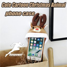 moible phone 2019 - Premium Quality Cute Christmas Cartoon Animal moible phone Back Protector with Phone Hat phone case For iPhone 6 7 8 X c